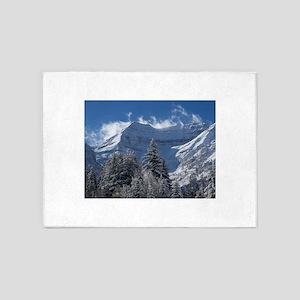 Beautiful Mountains in Utah 5'x7'Area Rug