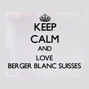 Keep calm and love Berger Blanc Suis Throw Blanket