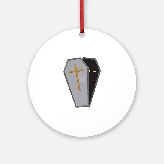 Halloween Coffin Ornament (Round)