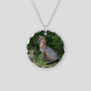 MOTHER RED FOX AND BABY Necklace