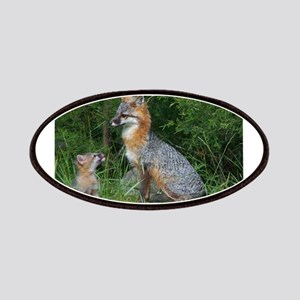 MOTHER RED FOX AND BABY Patches
