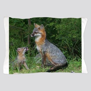 MOTHER RED FOX AND BABY Pillow Case