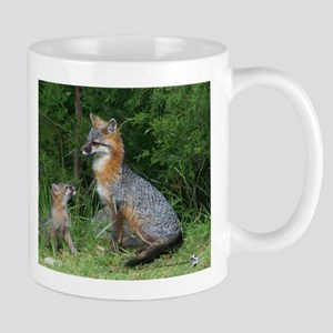 MOTHER RED FOX AND BABY Mugs