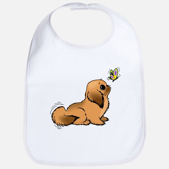 Puppy And Butterfly Bib