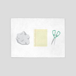 Rock Paper Scissors 5'x7'Area Rug