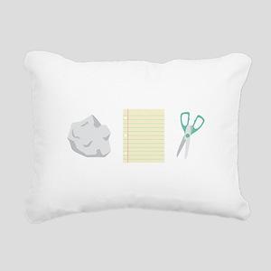 Rock Paper Scissors Rectangular Canvas Pillow