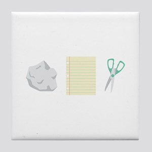 Rock Paper Scissors Tile Coaster