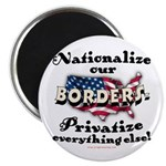 Nationalize the Borders Magnet