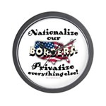 Nationalize the Borders Wall Clock