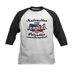 Nationalize the Borders Kids Baseball Jersey