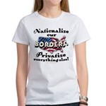 Nationalize the Borders Women's T-Shirt