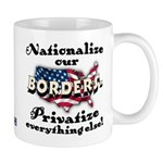 Nationalize the Borders Mug