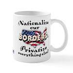 Nationalize the Borders Mug