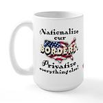 Nationalize the Borders Large Mug