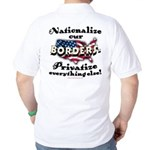 Nationalize the Borders Golf Shirt