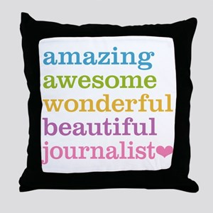 Awesome Journalist Throw Pillow