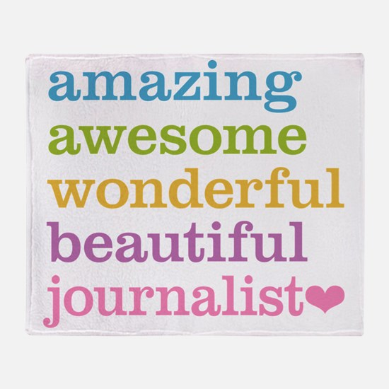 Awesome Journalist Throw Blanket