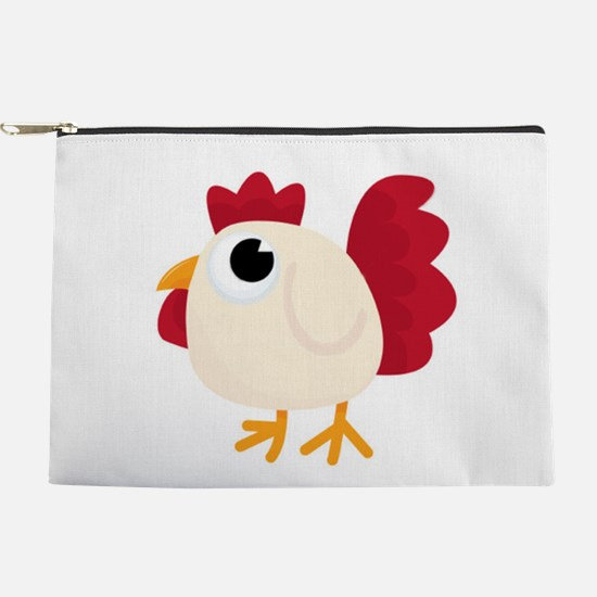 Funny White Chicken Makeup Pouch