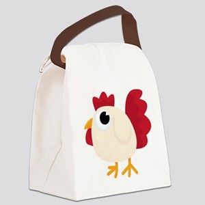 Funny White Chicken Canvas Lunch Bag