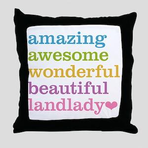 Awesome Landlady Throw Pillow