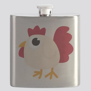 Funny White Chicken Flask