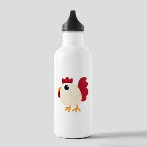 Funny White Chicken Water Bottle