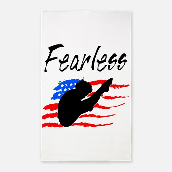FEARLESS DIVER 3'x5' Area Rug