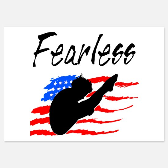 FEARLESS DIVER 5x7 Flat Cards