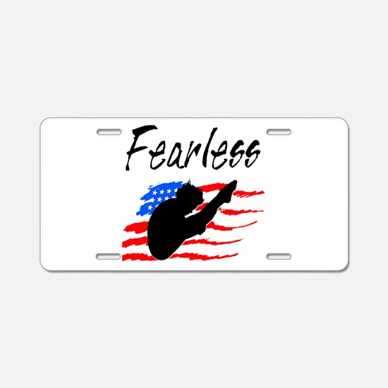 FEARLESS DIVER Aluminum License Plate