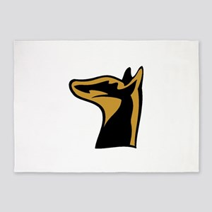 German Pinscher 5'x7'Area Rug