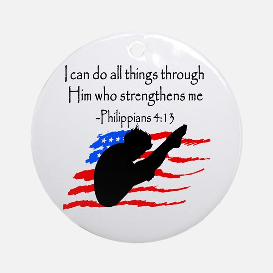 DIVER PRAYER Ornament (Round)