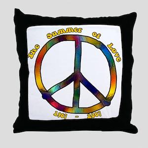 Summer of Love 1967 Throw Pillow