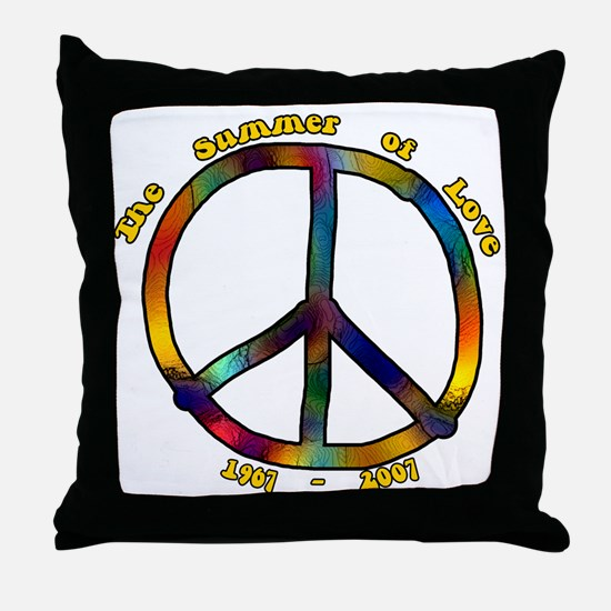 Summer of Love 1967 Throw Pillow