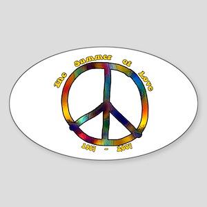 Summer of Love 1967 Oval Sticker