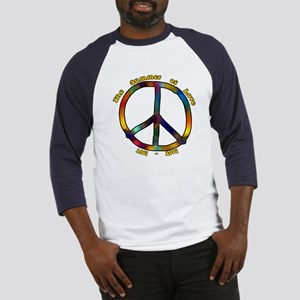 Tie Dye Peace Sign Baseball Jersey