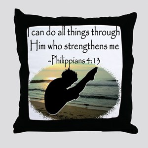 DIVER PRAYER Throw Pillow