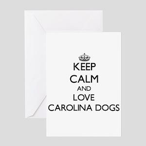 Keep calm and love Carolina Dogs Greeting Cards