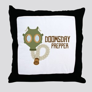 Doomsday Prepper Throw Pillow