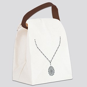 Italian Contessa's Diamond Neckla Canvas Lunch Bag