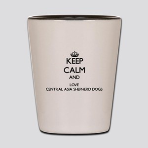 Keep calm and love Central Asia Shepher Shot Glass