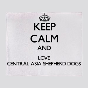Keep calm and love Central Asia Shep Throw Blanket