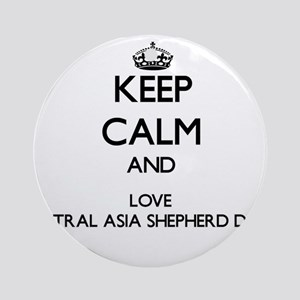 Keep calm and love Central Asia S Ornament (Round)