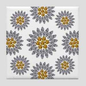 Daisies Tile Coaster