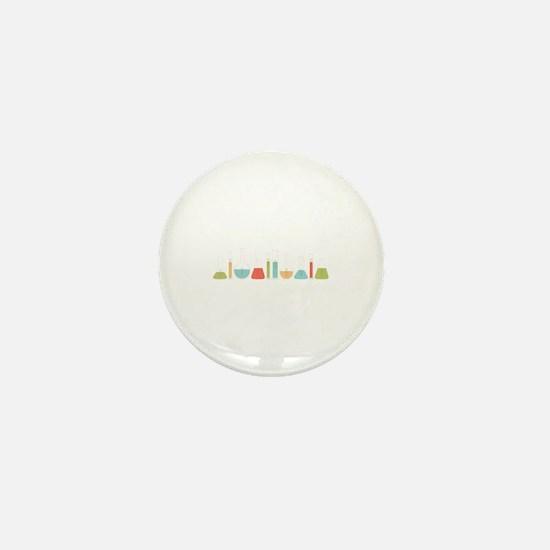 Science Beakers Mini Button