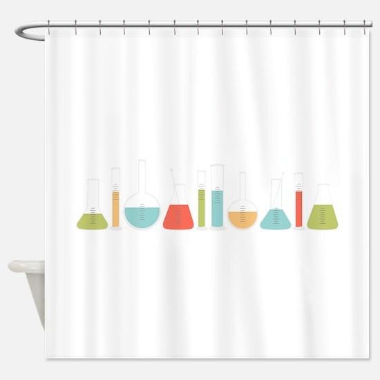 Science Beakers Shower Curtain