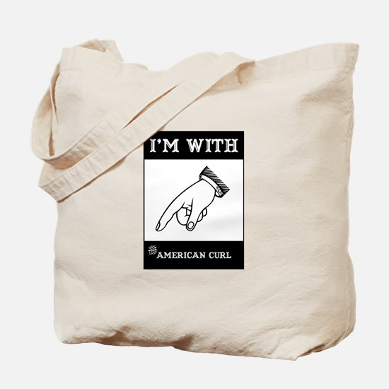 I'm With The Curl Tote Bag