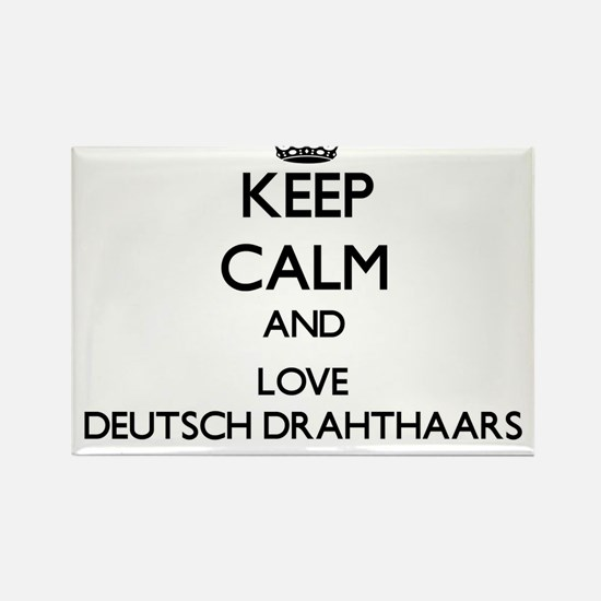 Keep calm and love Deutsch Drahthaars Magnets