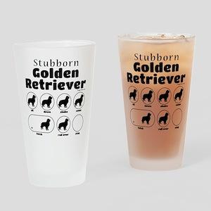 Stubborn Golden v2 Drinking Glass