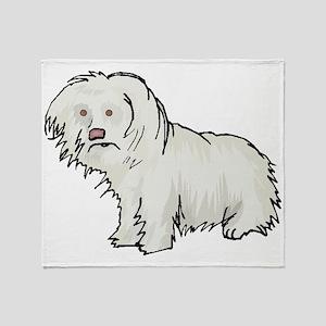 Spanish Water Dog Throw Blanket