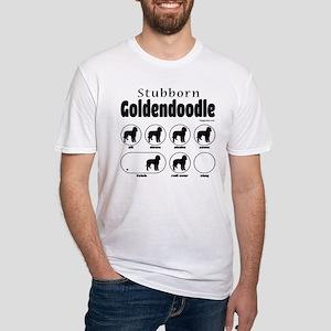 Stubborn Goldendoodle v2 Fitted T-Shirt
